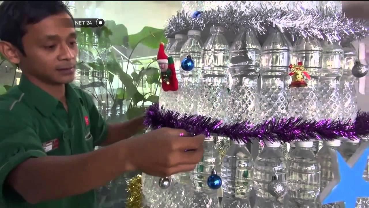 Kreasi Pohon Natal dari Limbah Koran Hingga Pohon Plastik