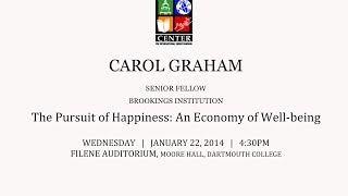 The Dickey Center at Dartmouth presents: Carol Graham, The Pursuit of Happiness