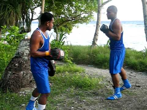 The Kiribati boxing team 2010