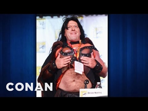 Dean Norris Of Breaking Bad Cross Dresser Extraordinaire Conan On Tbs