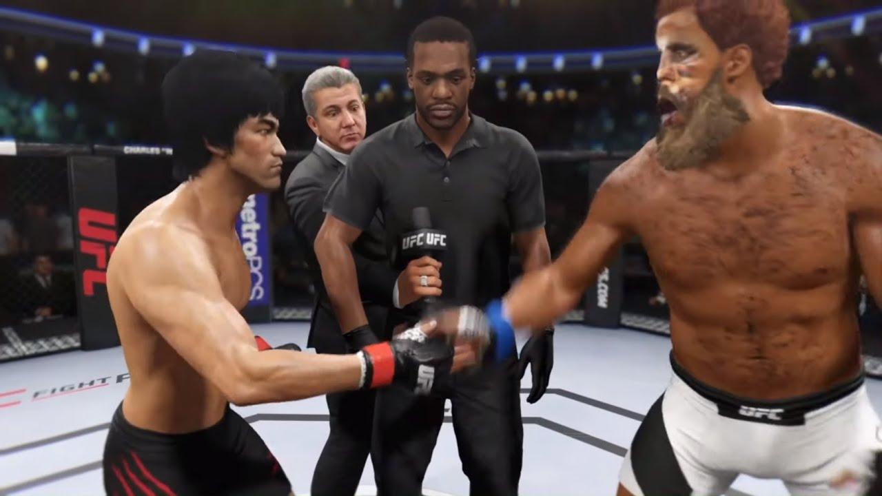Bruce Lee vs. Chewbacca (EA sports UFC 2) - Crazy UFC ??