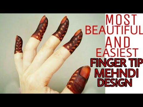 Latest New Beautiful And Easiest Finger Tip Design Ever Finger