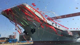 china s first home built aircraft carrier type 001a hits the water