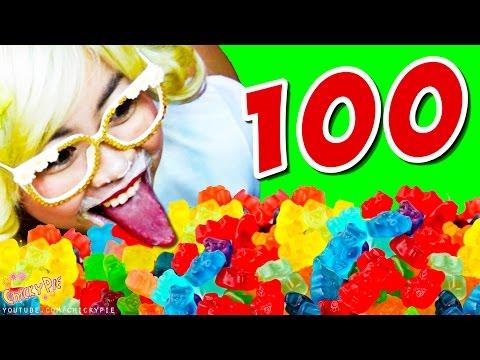 กินจุ กินโชว์ กิน ปีโป้ กิน 100 ชิ้น เยลลี่ 【คนกินจุ ชิกกี้พาย】