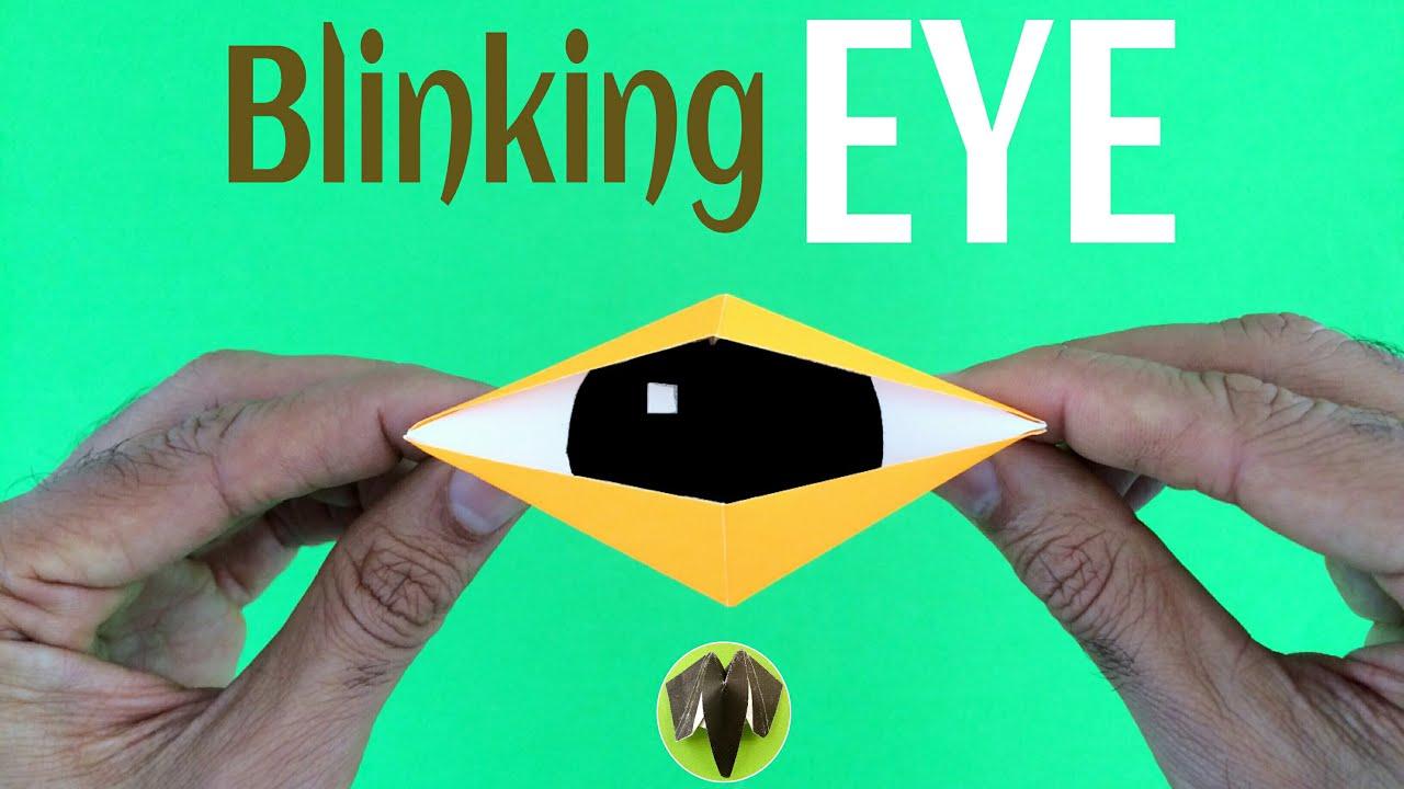 Origami tutorial to make paper blinking eye handmade diy origami tutorial to make paper blinking eye handmade diy jeuxipadfo Choice Image