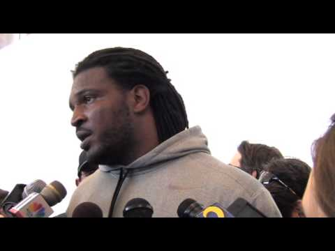 Georgia OLB Jarvis Jones addresses the media at Pro Day