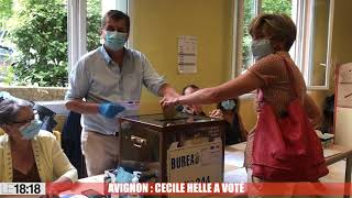 Avignon : Cecile Helle a voté