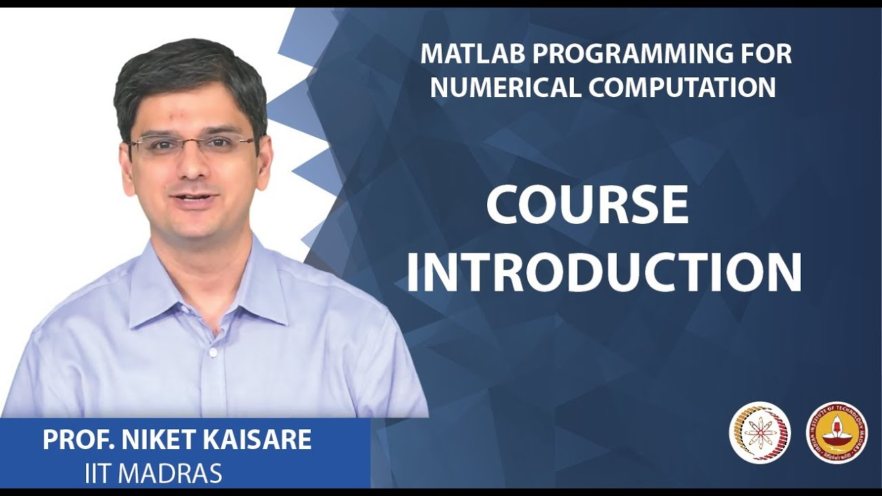 Matlab Programming for Numerical Computation - Course