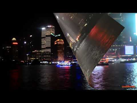 Shanghai - Night cruise on Huangpu River - Trip to China part 45 - Full HD travel video