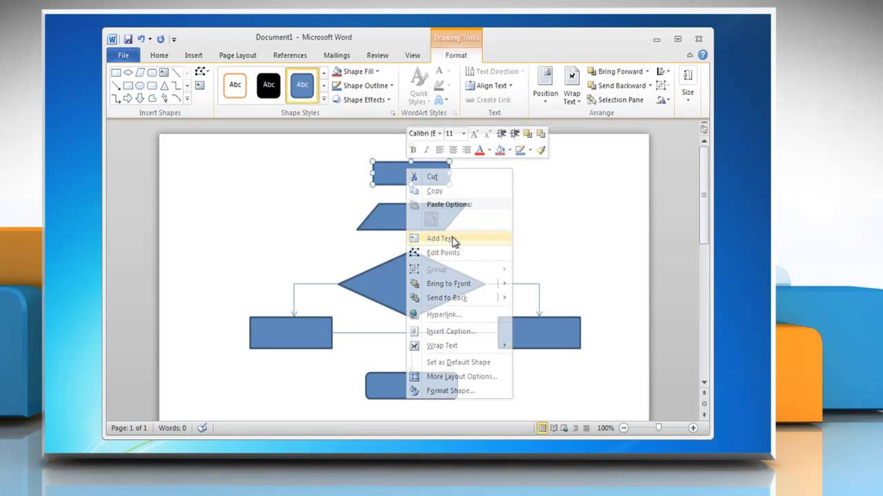 how to make process flow diagram stihl 009 chainsaw parts a chart in word 2007 2010 2013 2016 youtube