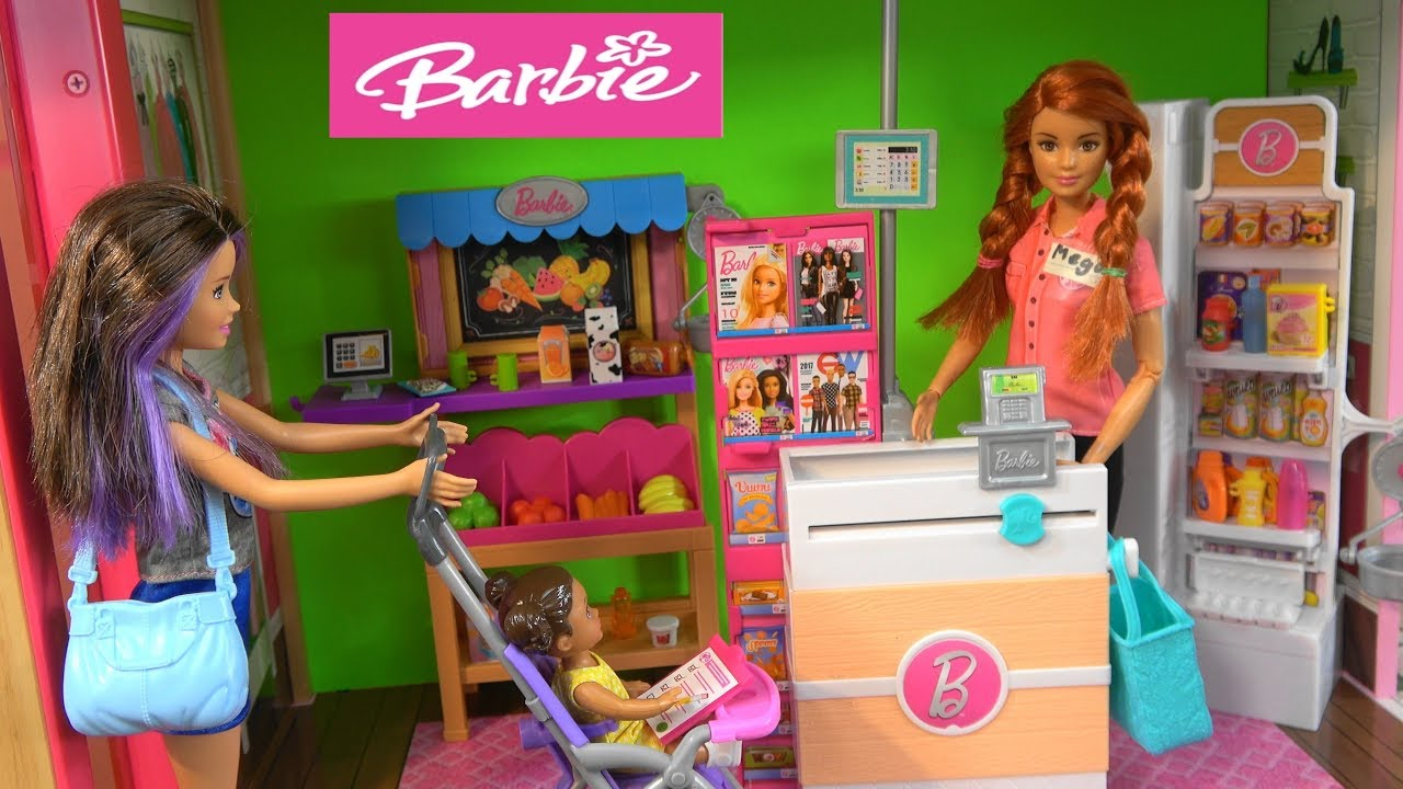 Barbie Story: Barbie Dream House Cleaning and Skipper Babysitting and  Shopping, Barbie New Fashion