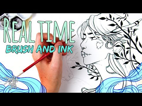 Real Time Brush and Ink ♦ Art Chat Q&A ♦ Deer Girl