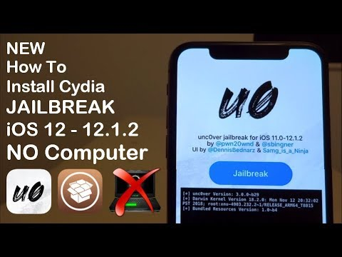 NEW How To Install Cydia JAILBREAK iOS 12 - 12 2 / 12 4 NO Computer iPhone  iPad & iPod Touch Unc0ver