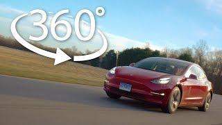 Tesla Model 3 360º Track Tour | Consumer Reports
