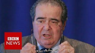Supreme Court Justice Antonin Scalia at arguments - BBC News