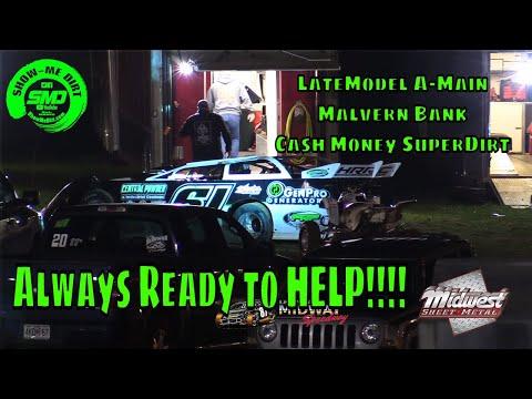 LateModel A-Main Malvern Bank Cash Money SuperDirt - Lebanon Midway Speedway 10-19-2019