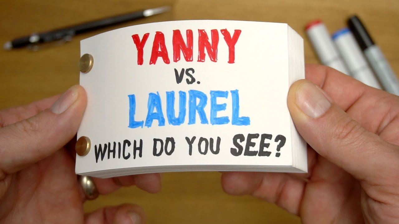 Yanny vs Laurel FLIPBOOK   Which do you SEE    YouTube Yanny vs Laurel FLIPBOOK   Which do you SEE
