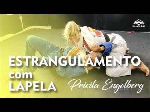 Jiu Jitsu - Estrangulamento com lapela - Pricila Engelberg - BJJCLUB