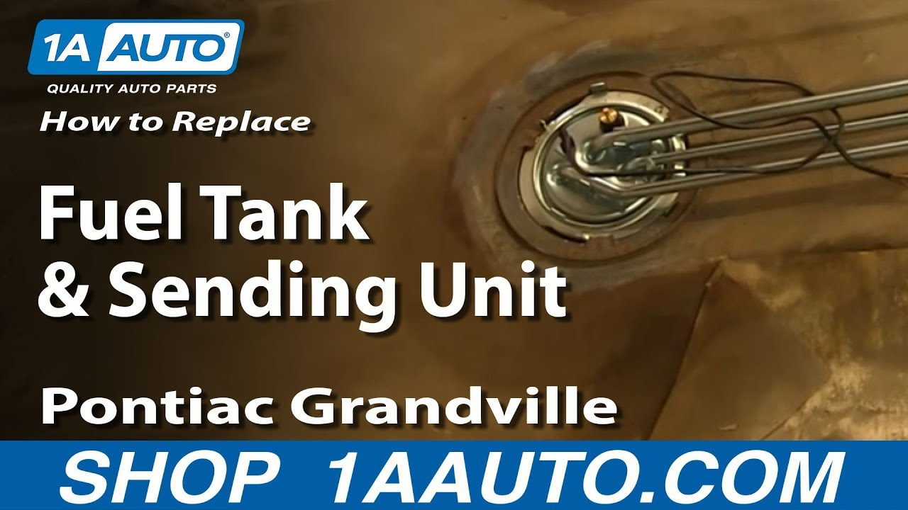 How To Replace Fuel Tank & Sending Unit 7176 Pontiac Grandville  YouTube