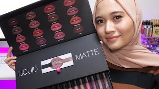 HUDA BEAUTY LIQUID MATTE LIPSTICK FULL COLLECTION SWATCHES | 16 SHADES