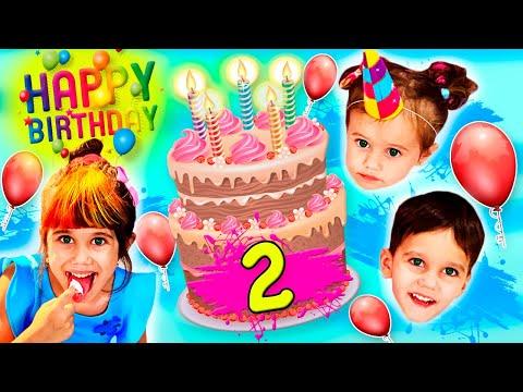 Алиса и день рождения сестрички Эрики, 2 года! Готовим детский праздник
