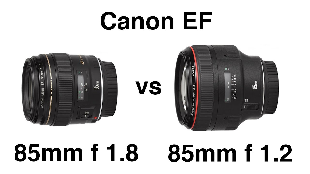 canon 85mm ef f 1 8 and ef f 1 2 ii l portrait lens comparison funnydog tv. Black Bedroom Furniture Sets. Home Design Ideas