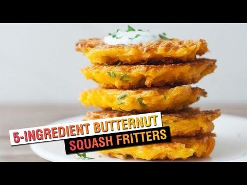 5-Ingredient Butternut Squash Fritters   Vegetarian Recipe