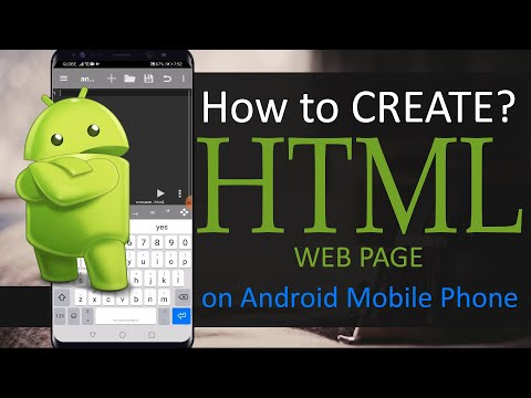 How To Create HTML In Mobile Phones