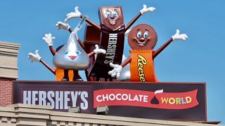 Hershey's Chocolate World & Factory Ride Thru - Talking Life Size Candy Bars / Singing Cows