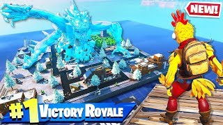 SECRET ICE DRAGON INVADES in Fortnite Battle Royale!