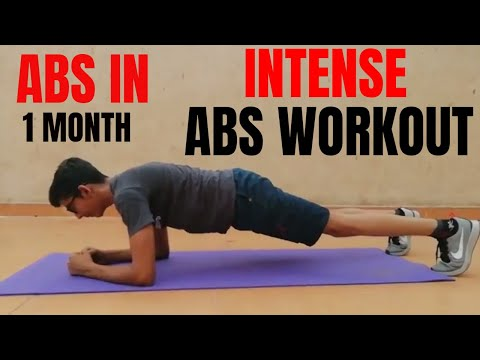 INTENSE 5 MINUTE ABS WORKOUT FOR SIX PACK ABS | IN HINDI