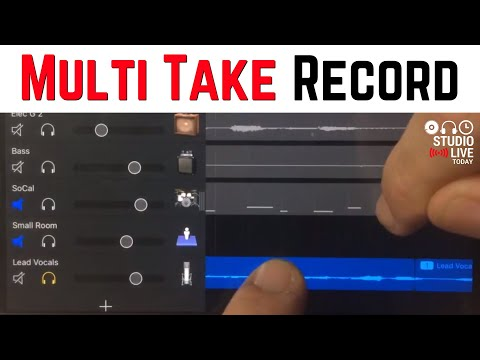 Multi Take Recording - GarageBand for iOS (iPhone/iPad) Version 2.2 New Features (5 of 7)