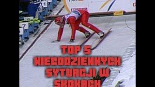 TOP 5 niecodziennych sytuacji w skokach narciarskich !
