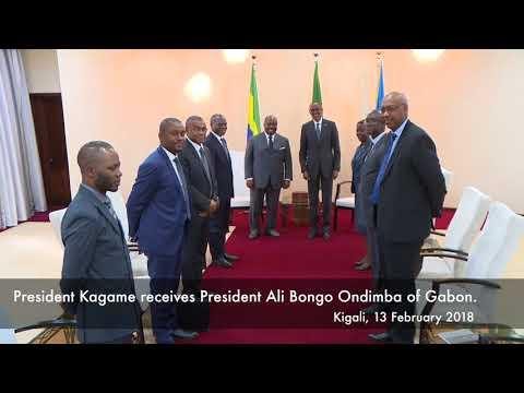 President Kagame receives President Ali Bongo Ondimba of Gabon to Rwanda, Kigali, 13 February 2018