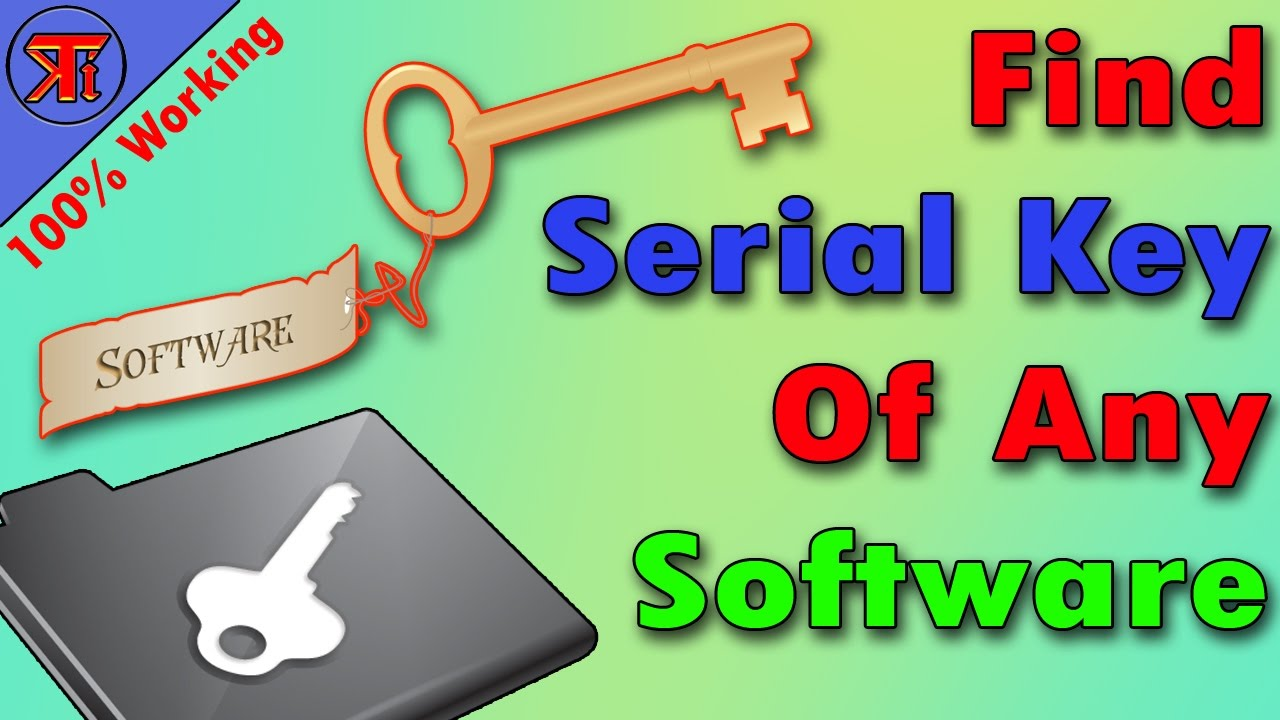 How to Get any Software Product Key | How To Find Serial Key Of Any  Software