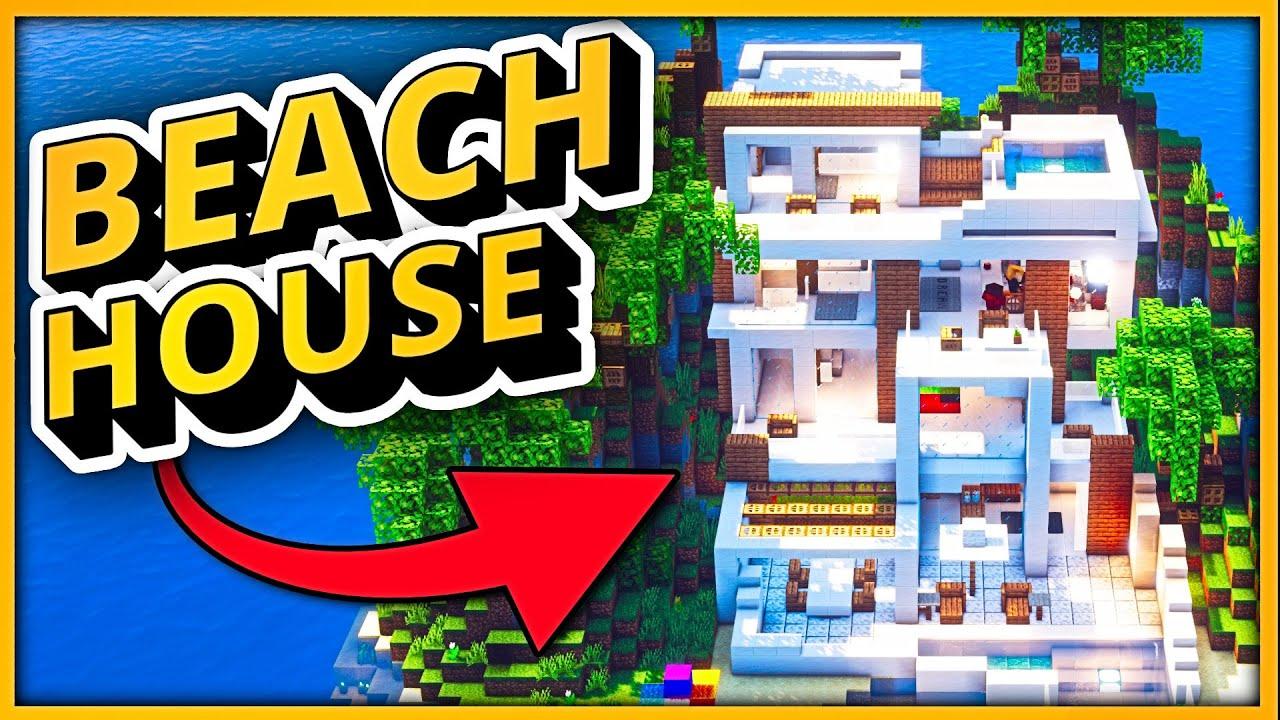 Minecraft Timelapse: 3 BEACH HOUSE Ideas