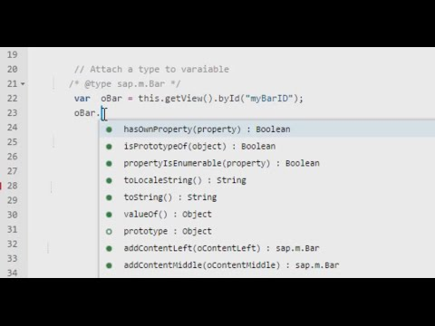 Code Completion - Embedded Types