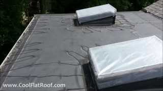 Leaking Flat Rubber Roof in Newton, MA