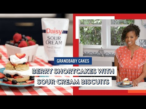 Berry Shortcakes with Sour Cream Biscuits