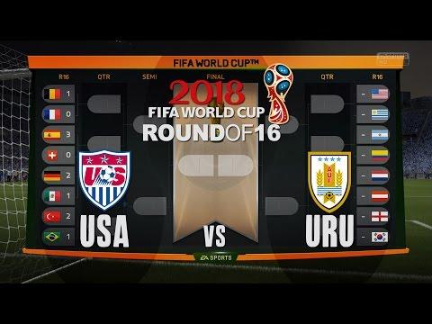 World Cup 2018 - USA vs Uruguay - Round of 16 Match #4 - FIFA Gameplay