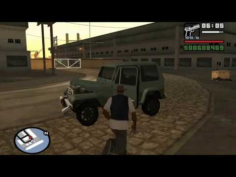 GTA San Andreas - Robbing Uncle Sam (Ryder Mission #3) - from the Starter Save - Mission Help