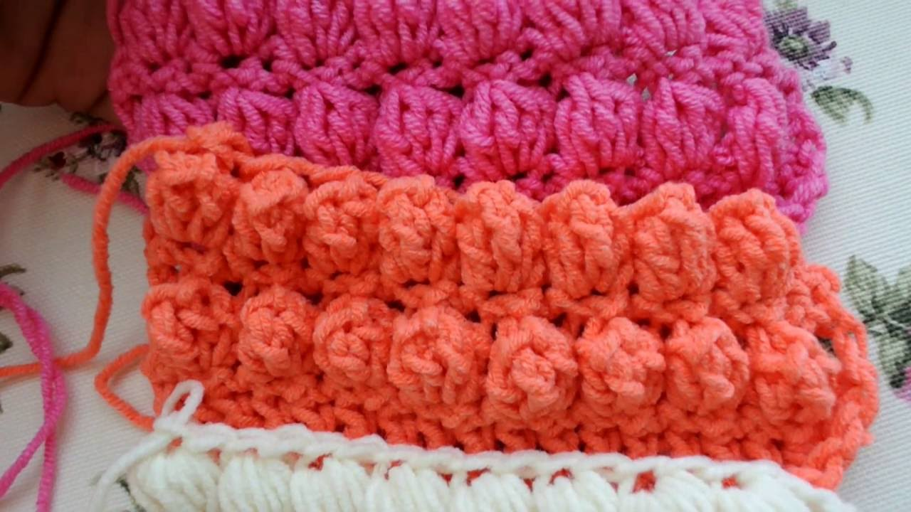 How To Make Puff, Bobble And Popcorn Stitches Beautiful Crochet Stuff
