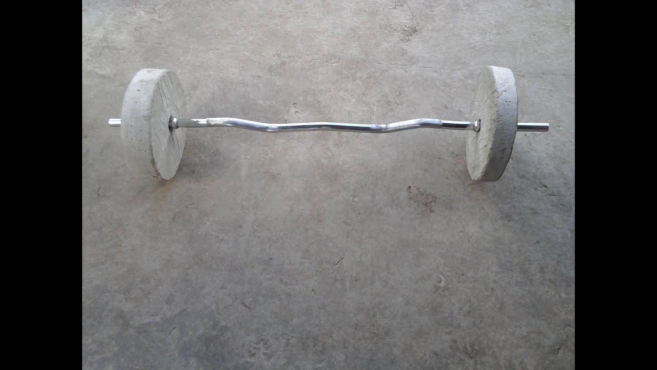 como hacer unas pesas caseras en casa
