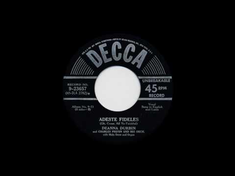 Deanna Durbin- Adeste Fideles and Silent Night 1950