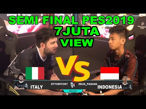 WORLD SEMI FINAL PES19 FAIDAN (INDONESIA) VS ETTORITO (ITALY)