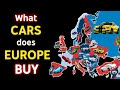Most Popular Cars Driven In Europe!