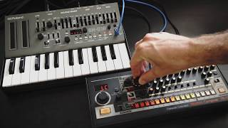 Here's us having a quick jam with the newest Roland Boutique series...