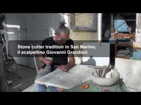 Stone cutter tradition in San Marino, il scalpellino Giovanni Grandoni