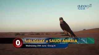 2018 World Cup predicting falcon: Uruguay v Saudi Arabia