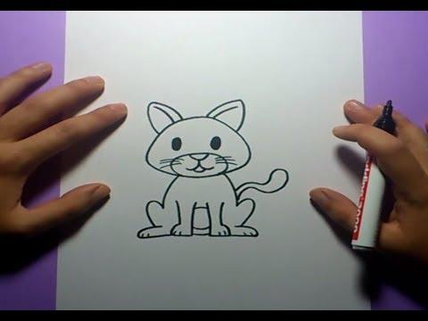 Como dibujar un gato paso a paso 8